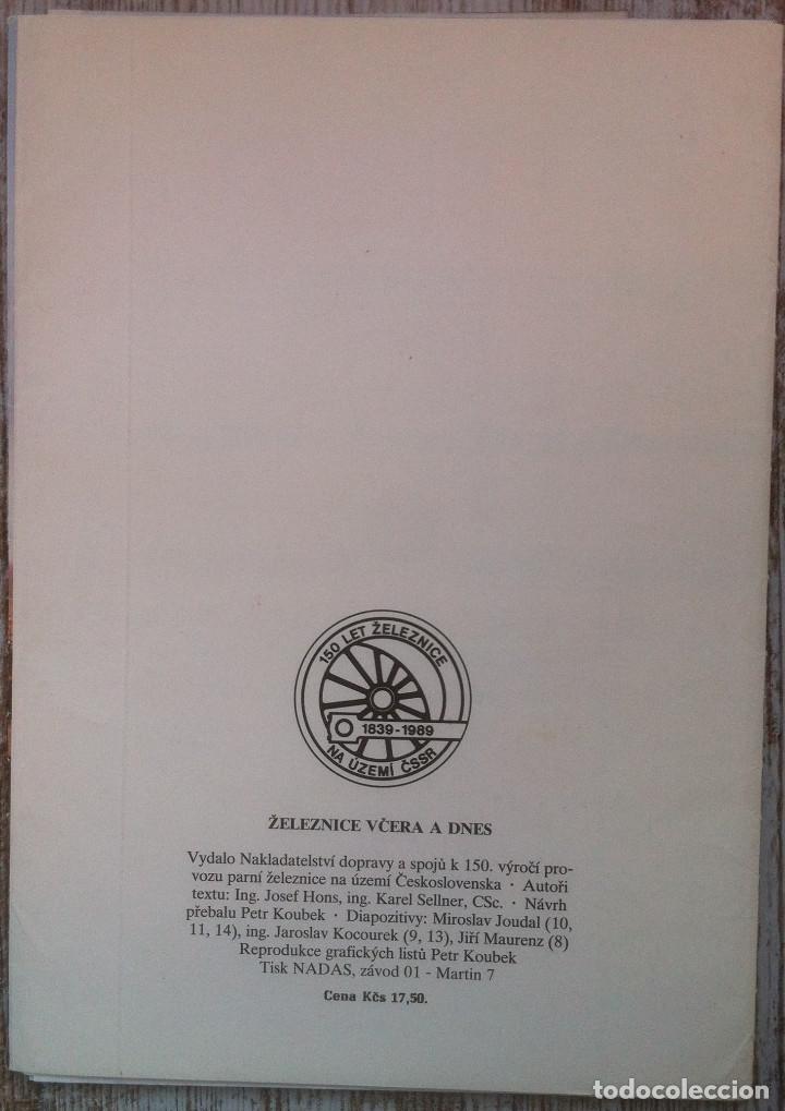 Folletos de turismo: Zeleznice vcera a dnes (Ferrocarril ayer y hoy) . Ed. de Trans. y Comunicaciones. 1989 (en eslovaco) - Foto 2 - 176610884