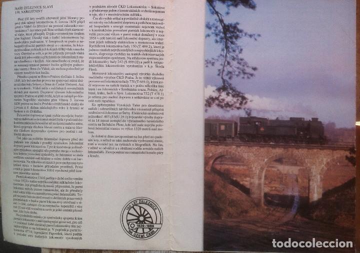 Folletos de turismo: Zeleznice vcera a dnes (Ferrocarril ayer y hoy) . Ed. de Trans. y Comunicaciones. 1989 (en eslovaco) - Foto 3 - 176610884
