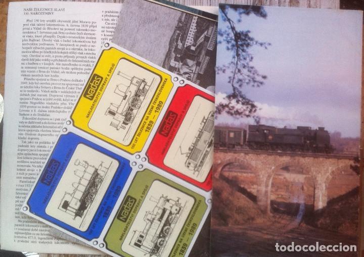 Folletos de turismo: Zeleznice vcera a dnes (Ferrocarril ayer y hoy) . Ed. de Trans. y Comunicaciones. 1989 (en eslovaco) - Foto 4 - 176610884