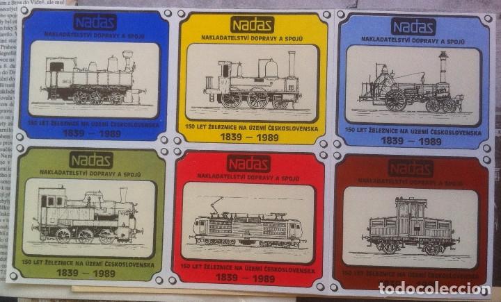 Folletos de turismo: Zeleznice vcera a dnes (Ferrocarril ayer y hoy) . Ed. de Trans. y Comunicaciones. 1989 (en eslovaco) - Foto 5 - 176610884