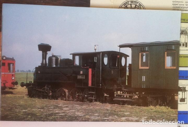 Folletos de turismo: Zeleznice vcera a dnes (Ferrocarril ayer y hoy) . Ed. de Trans. y Comunicaciones. 1989 (en eslovaco) - Foto 12 - 176610884