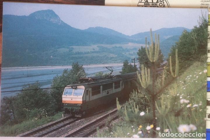 Folletos de turismo: Zeleznice vcera a dnes (Ferrocarril ayer y hoy) . Ed. de Trans. y Comunicaciones. 1989 (en eslovaco) - Foto 14 - 176610884