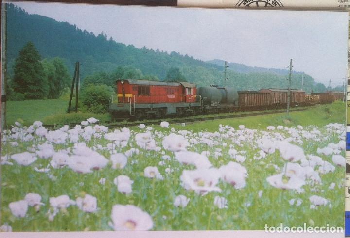 Folletos de turismo: Zeleznice vcera a dnes (Ferrocarril ayer y hoy) . Ed. de Trans. y Comunicaciones. 1989 (en eslovaco) - Foto 15 - 176610884