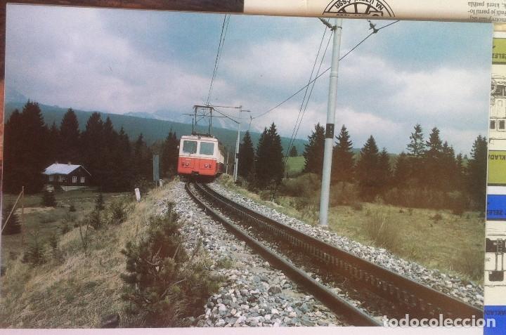 Folletos de turismo: Zeleznice vcera a dnes (Ferrocarril ayer y hoy) . Ed. de Trans. y Comunicaciones. 1989 (en eslovaco) - Foto 16 - 176610884