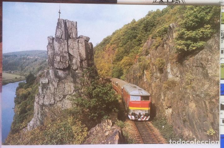 Folletos de turismo: Zeleznice vcera a dnes (Ferrocarril ayer y hoy) . Ed. de Trans. y Comunicaciones. 1989 (en eslovaco) - Foto 17 - 176610884