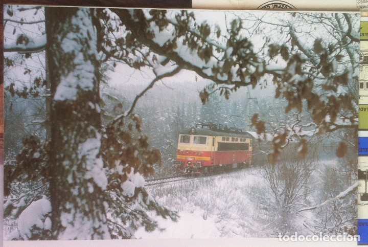 Folletos de turismo: Zeleznice vcera a dnes (Ferrocarril ayer y hoy) . Ed. de Trans. y Comunicaciones. 1989 (en eslovaco) - Foto 18 - 176610884