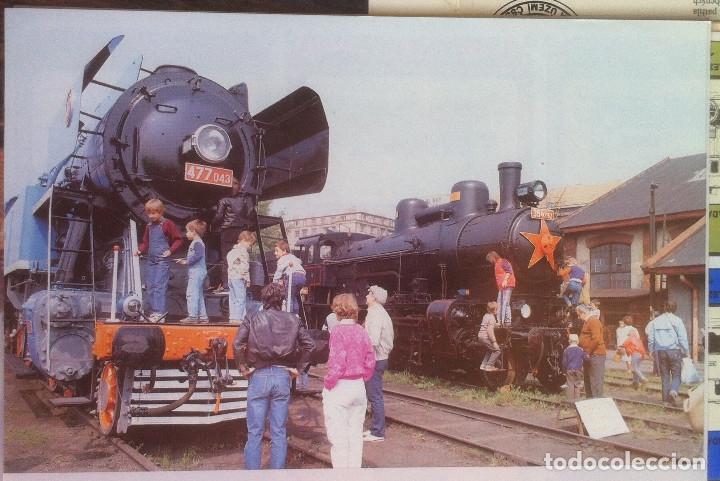 Folletos de turismo: Zeleznice vcera a dnes (Ferrocarril ayer y hoy) . Ed. de Trans. y Comunicaciones. 1989 (en eslovaco) - Foto 19 - 176610884