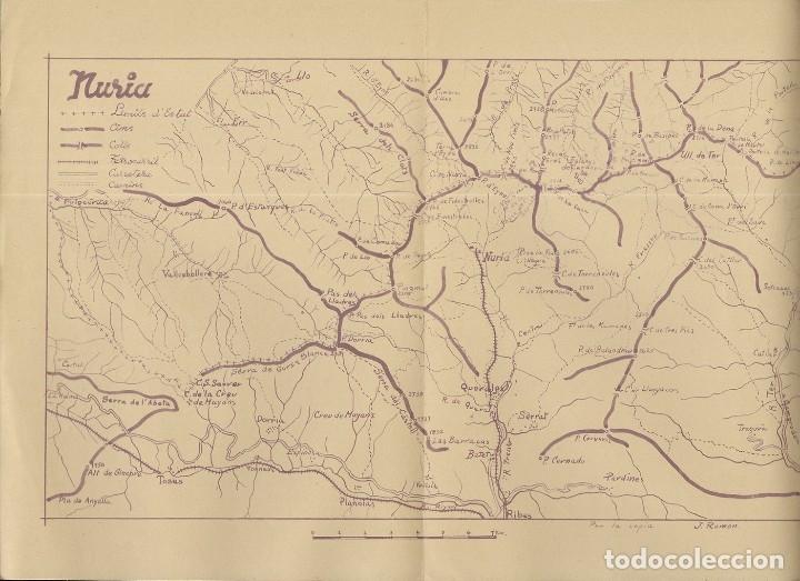 Folletos de turismo: Núria. A.E. Pedraforca Secció de Muntanya. Itineraris 1949 - Foto 3 - 176673482