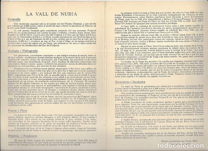 Folletos de turismo: Núria. A.E. Pedraforca Secció de Muntanya. Itineraris 1949 - Foto 4 - 176673482