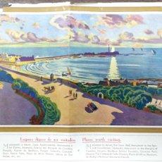 Folletos de turismo: FOLLETO DE TURISMO INAUGURACION DEL HOTEL ATLANTICO. AÑO 1929. ILUSTRADO POR FRANCISCO PRIETO. CADIZ. Lote 176734497