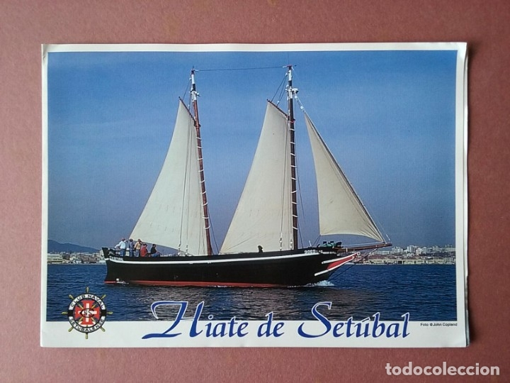 DÍPTICO HIATE DE SETÚBAL. CLUBE NAVAL SETUBALENSE. PORTUGAL. (Coleccionismo - Folletos de Turismo)