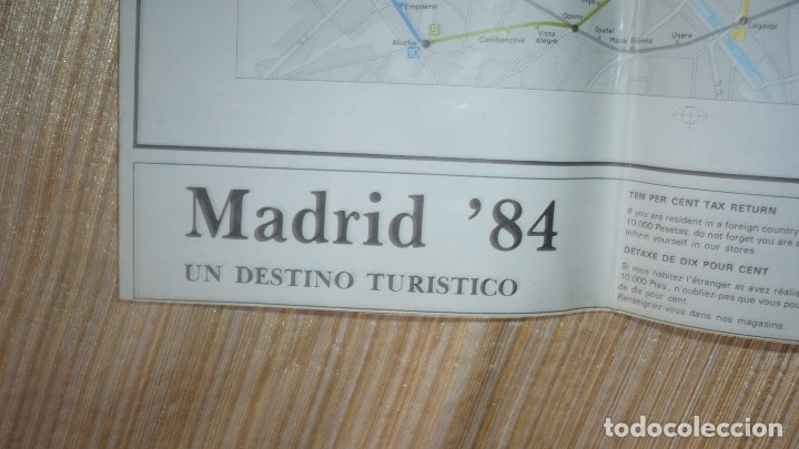 Folletos de turismo: Mapa-plano callejero de Madrid año 1984 - Foto 2 - 177041353