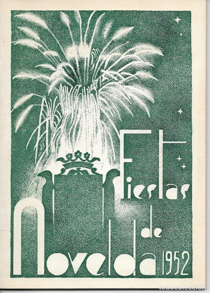 PROGRAMA DE FIESTAS NOVELDA (ALICANTE) AÑO 1952 (Coleccionismo - Folletos de Turismo)