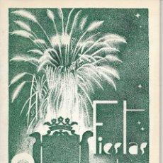 Folletos de turismo: PROGRAMA DE FIESTAS NOVELDA (ALICANTE) AÑO 1952. Lote 177089708