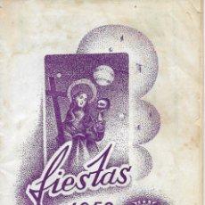 Folletos de turismo: PROGRAMA DE FIESTAS NOVELDA (ALICANTE) AÑO 1959. Lote 177089775