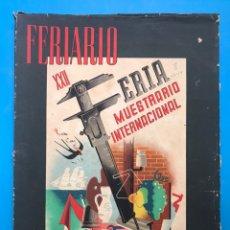 Folletos de turismo: FERIARIO - REVISTA DE LA FERIA MUESTRARIO INTERNACIONAL DE VALENCIA - AÑO 1944, Nº 8. Lote 177194217