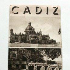 Brochures de tourisme: FOLLETO DE TURISMO DE CÁDIZ. AÑOS 30. Lote 177320309