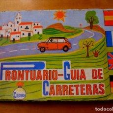 Folletos de turismo: PRONTUARIO GUIA DE CARRETERAS CALDERON (1973). Lote 177571853