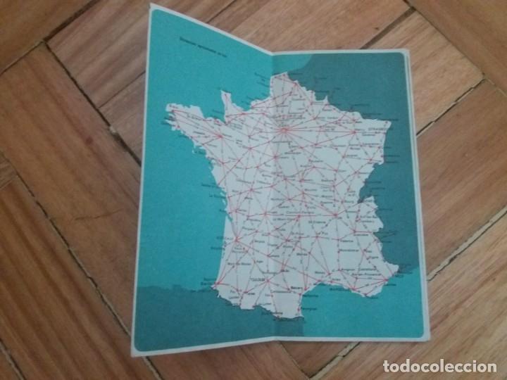 Folletos de turismo: Mapa de Carreteras de Francia. Años 60, 70. Metro de Paris. Folleto de turismo. - Foto 2 - 177653934