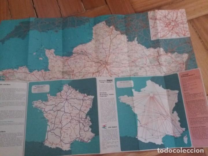 Folletos de turismo: Mapa de Carreteras de Francia. Años 60, 70. Metro de Paris. Folleto de turismo. - Foto 3 - 177653934