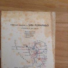 Folletos de turismo: PARTIDO JUDICIAL DE SAN FERNANDO, CADIZ. Lote 177802065