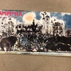 Folletos de turismo: PAMPLONA PLANO TURÍSTICO, DESPLEGABLE DE 1961. EDITADO POR CAJA DE AHORROS DE PAMPLONA.. Lote 177873384