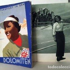 Folletos de turismo: WINTERSPORT IN DEN DOLOMITEN. (PUBLICIDAD ORIGINAL DE MARIO PUPPO, 1937-38) DEPORTES INVIERNO. Lote 177890619