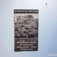 Folletos de turismo: FOLLETO INFORMATIVO BALNEARIO PANTICOSA. Lote 178026518