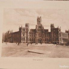 Folletos de turismo: PALACIO DE COMUNICACIONES DE MADRID (CASA DE CORREOS) - (HACIA 1918), MADRID, HELIOPATÍA ARTÍSTICA. Lote 178275557