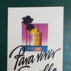 Folletos de turismo: SEVILLA FOLLETO INFORMATIVO PGOU DEL AÑO 85 EXPO 92. Lote 178718392