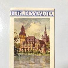 Folletos de turismo: FOLLETO PUBLICITARIO DE BUDAPEST. HOTEL DUNAPALOTA. VER FOTOS.. Lote 178775026
