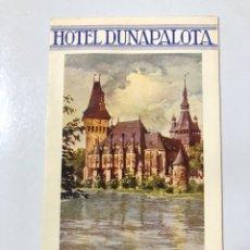 Folletos de turismo: FOLLETO PUBLICITARIO DE BUDAPEST. HOTEL DUNAPALOTA. VER FOTOS. . Lote 178775287