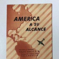 Folletos de turismo: FOLLETO TURISTICO AMERICA. AMERICA A SU ALCANCE. COMPAÑIA REAL HOLANDESA DE AVIACION KLM. . Lote 178775815