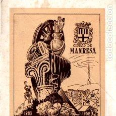 Folletos de turismo: FIESTAS DE LA ASCENSION MANRESA 1952. Lote 178843781