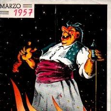 Folletos de turismo: EL FALLERO MAYOR MARZO 1957. Lote 178843951