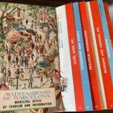 Folletos de turismo: PLANO MAPA INFORMACIÓN AYUNTAMIENTO DE BARCELONA AÑOS 50 OFICINA DE TURISMO SEIX & BARRAL. Lote 178937522
