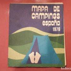 Folletos de turismo: MAPA DE CAMPING DE ESPAÑA, 1976. (DESPLEGADO: 69 X 40 CM). Lote 178988178