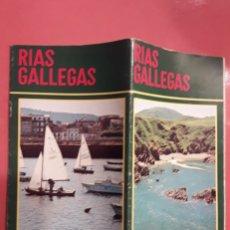 Folletos de turismo: RÍAS GALLEGAS, FOLLETO TURÍSTICO DE 1974.. Lote 178989298