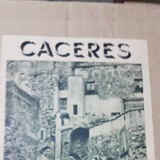 Folletos de turismo: ANTIGUO FOLLETO TURISMO CACERES. Lote 179310417