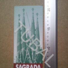 Folletos de turismo: TUBAL SAGRADA FAMILIA DE BARCELONA FOLLETO TURISTICO ENVÍO 70 CENT 2019 B05. Lote 180091921