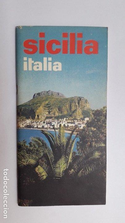 SICILIA. ITALIA, 1970 (FOLLETO EN ITALIANO, 65 PÁGS, FOTOS EN COLOR) (Coleccionismo - Folletos de Turismo)
