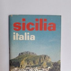 Folletos de turismo: SICILIA. ITALIA, 1970 (FOLLETO EN ITALIANO, 65 PÁGS, FOTOS EN COLOR). Lote 180147977
