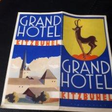 Folletos de turismo: FOLLETO GRAN HOTEL KITZBUHEL EN TIROL. Lote 180178132