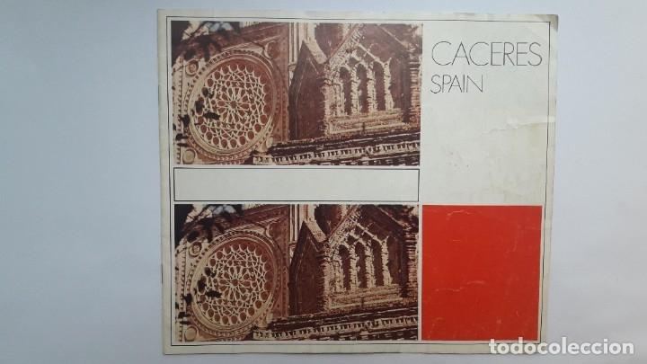 FOLLETO TURÍSTICO: CÁCERES, SPAIN, 1974, (EN INGLÉS) (Coleccionismo - Folletos de Turismo)