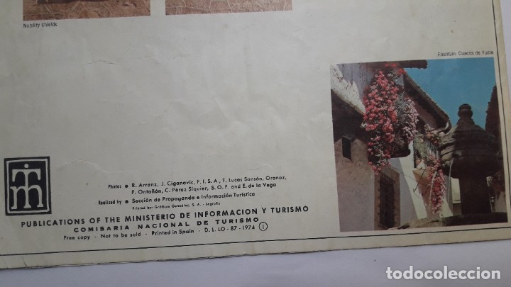 Folletos de turismo: folleto turístico: CÁCERES, SPAIN, 1974, (en inglés) - Foto 2 - 180185068