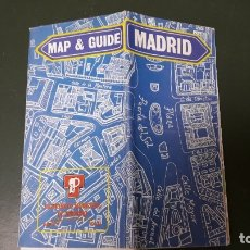 Folletos de turismo: FOLLETO TURÍSTICO: MAPA Y GUÍA DESPLEGABLE DE MADRID SCALE 1: 5.000 (96 X 65 CM.). Lote 180189891