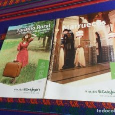 Folletos de turismo: MARRUECOS Y TURISMO Y HOTELES CON ENCANTO 2016 2017. VIAJES EL CORTE INGLÉS. BUEN ESTADO.. Lote 180222077