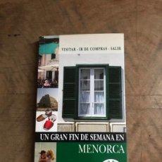 Folletos de turismo: MENORCA. Lote 180412897