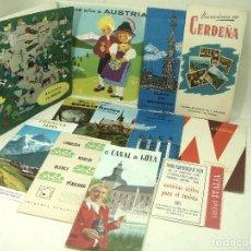Folletos de turismo: COLECCION 12X- GUIA TURISMO 50S-EUROPA AUSTRIA,BRUSELAS,CERDEÑA,VIENA,BASILEA..FOLLETO MAPAS PLANOS. Lote 180448491