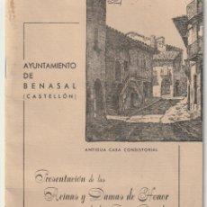 Folletos de turismo: AYUNTAMIENTO DE BENASAL CASTELLON LIBRO DE FIESTAS 1973 - -R-7. Lote 180456287